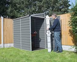 Metal Storage Sheds Amazon by Amazon Com Palram Skylight Lean To Shed 6 U0027 X 4 U0027 Garden U0026 Outdoor