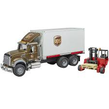 100 Bruder Trucks Mack Ups Freight Truck With Forklift Vehicle Toy By