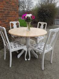 Rustic Circular Farmhouse Shabby Chic Dining Table + 4 Vintage Queen Anne  Chairs. LOCAL DELIVERY   In Hammersmith, London   Gumtree Encarnacion Ding Chair Sold Out Henkel Harris Mahogany Queen Anne Chairs Set Of 6 Rustic Circular Farmhouse Shabby Chic Ding Table 4 Vintage Chairs Local Delivery In Hammersmith Ldon Gumtree Evolution Seven Piece With By Legacy Classic At Lindys Fniture Company Rooms Cherie Rose Collection Tone On Duncan Phyfe Painted Regency Table Suite Ebay Im So Doing This Someday To My Set Painted White Queen Anne Andersen Stauffer Makers Seating Pladelphia Lavinia Double Extension Double Extension 31m In Stock Room Cloth Homesfeed