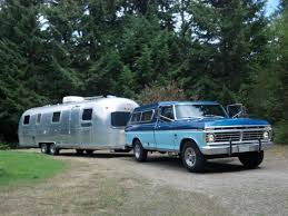 100 Airstream Truck Camper My Rig 1973 F250 Special Pulling A 33 Foot