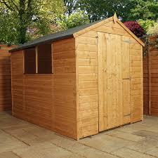 Cheap 6 X 8 Wooden Sheds by 8x6 Shiplap Wooden Apex Garden Shed Large Single Door U0026 Felt