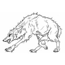 Angry Wolf Coloring Pages