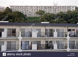 100 Apartment In Yokohama Residential High Rise Apartment Building In Japan Stock