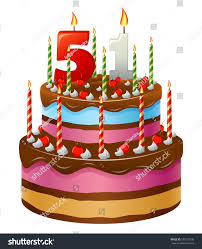 Happy Birthday Cake 51 Stock Vector Shutterstock