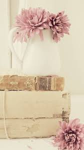 Stunning Blooms And Antique Books