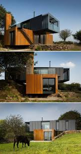 100 Downslope House Designs Shipping Container Home Acts Like A Sculpture In The Irish