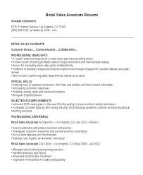 Resume Example For A Retail Job Plus Store E Sample Sales Template 8 Templates