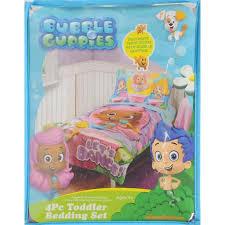 bubble guppies 4 pc toddler bedding set walmart com