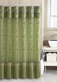 Small Bathroom Window Curtains Amazon by Amazon Com Two Layered Embroidered Fabric Shower Curtain With
