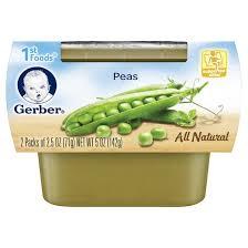 Gerber 1st Foods Peas Baby Food 2 2 5 oz pks Tar