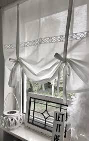 raffrollo klöppelspitze raffrollo gardinen wohnzimmer