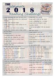 The Ultimate 2018 Book Reading Challenge This Looks Like Fun Cant Wait To Get Started