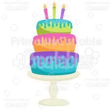 Birthday Cake SVG Cut File Clipart