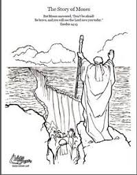 Story Of Moses Coloring Page Script And Bible