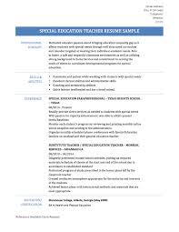 Fascinating Sample Special Education Resumes On Teacher Resume Samples Tips And Templates