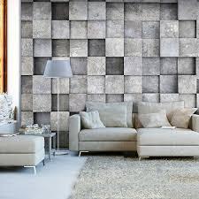 vlies fototapete stein steinwand grau 3d effekt tapete wandbilder wohnzimmer
