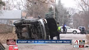 100 Dump Truck Crash JC Harmon High School Student Killed In KCK Crash Involving UG