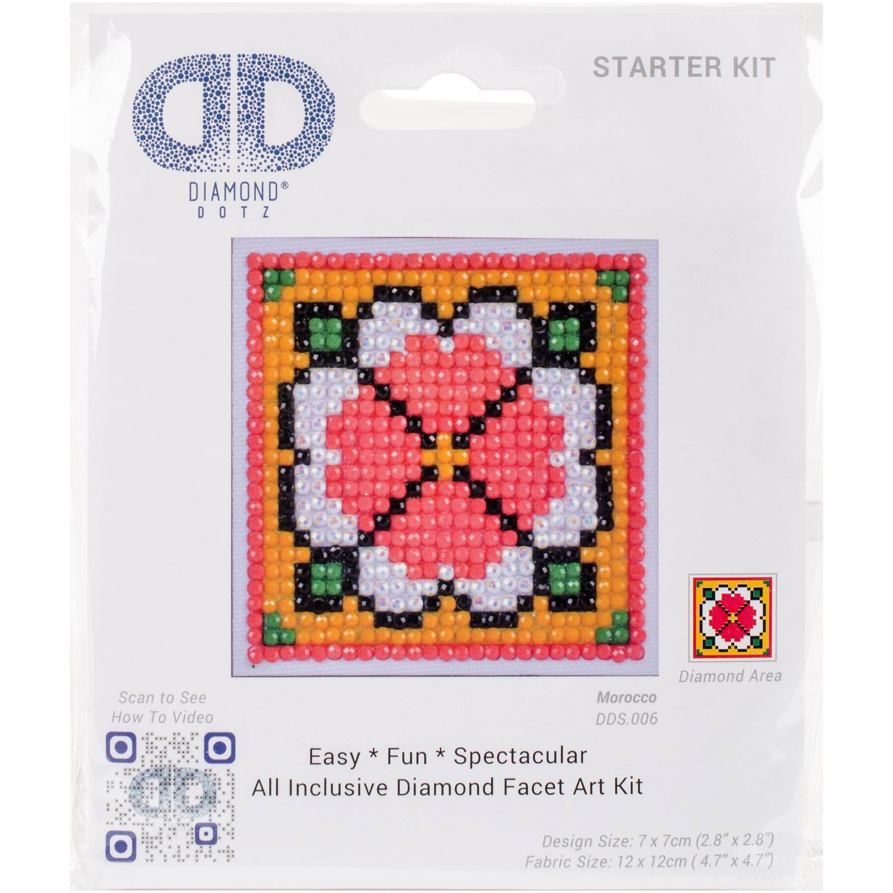 "Diamond Dotz Diamond Embroidery Facet Art Kit 4.75""X4.75"" Morocco"