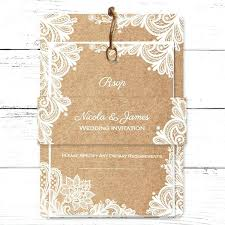 Awesome Rustic Wedding Invitations With Lace For 92 Uk