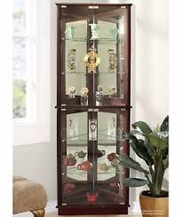 corner display cabinet ebay