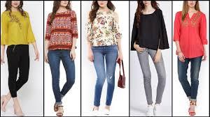 Beautiful Causal Wear Tops Designs Kurti Shirt With Jeans