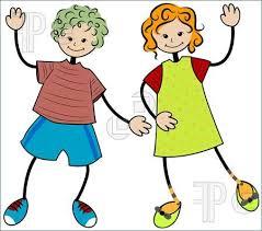 children waving goodbye clipart