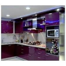 U201cpurple High Gloss Lacquered Kitchen Cabinets With Granite