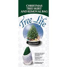 46 In White Nylon Traditional Christmas Tree Skirt