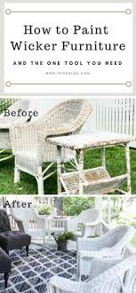How to Paint Wicker Furniture for a Long Lasting Finish 1915 House