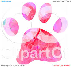 Dog Paw Print Pumpkin Stencils by Clipart Of A Watercolor Heart Patterned Dog Paw Print Royalty