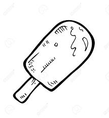 Popsicle clipart black and white 3