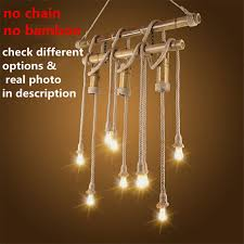American Rustic Style Handmade Pendant Lamp With E27 HoldersHanging Rope Restaurant Room