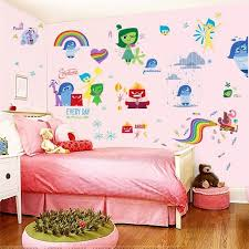 IO007 INSIDE OUT Wall Stickers Kids Bedroom Decoration Diy Children Home Decals Riley Cartoon Film