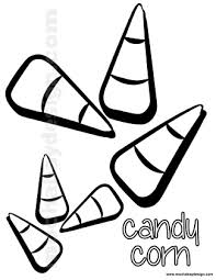 View And Print Candycorn Halloween Kids Coloring Page