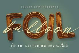 3d Font Png Free