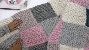 How To Knit A Patchwork Blanket With Pictures