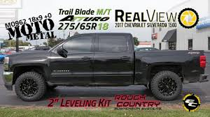 100 Chevy Truck Wheels And Tires RealView Leveled 2017 Silverado 1500 W 18x9 Moto Metal 970s