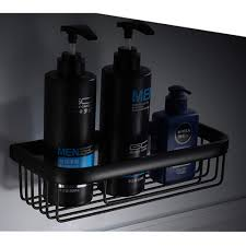 schwarz yardwe aluminium duschkorb wandmontage duschablage