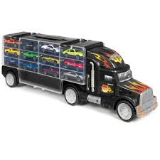 100 Semi Truck Toy Best Choice Products 29Piece Kids 2Sided Transport Car Carrier W 18 Cars 28 Slots Multicolor