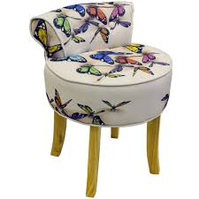 Vanity Chair With Back And Wheels by Furniture Hayworth Silver Vanity Stool With Wheels Plus Padded