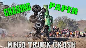 CHASIN PAPER MEGA TRUCK CRASH - YouTube