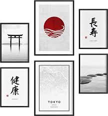 félice deko bilder für das wohnzimmer modern und angesagt premium poster set japan deko wand bild dekoration wohnung modern deko