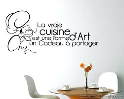 stickers cuisine citation sticker mural cuisine stickers muraux cuisine citation grand