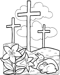Easter Cross Coloring Pages Keyid Within