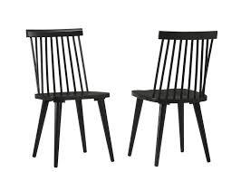 duhome 2er set esszimmerstuhl aus holz schwarz stuhl vintage design retro geschwungene rückenlehne
