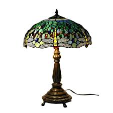 Home Depot Ceiling Lights With Pull Chains by Warehouse Of Tiffany 22 In Antique Bronze Dragonfly Stained Glass