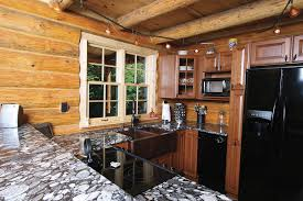 Log Cabin Kitchen Ideas by Log Cabin Ideas Kitchen Rustic With Rustic Granite Counter Log
