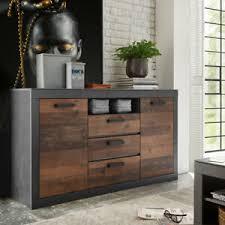 details zu sideboard 51 anrichte kommode wohnzimmer matera grau und mix braun
