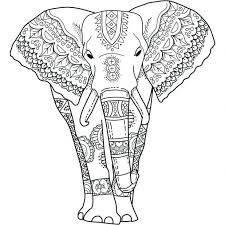 Elephant Coloring Pages Realistic This Mystical Page Print Color Colorful Elephants