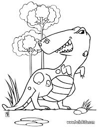 Water Dinosaur Big Tyrannosaurus Coloring Page